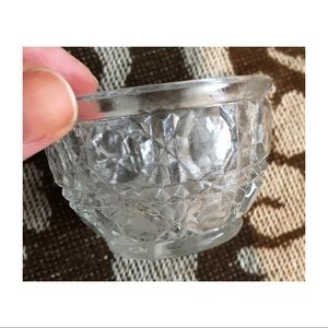 Vintage cut glass jewelry dish
